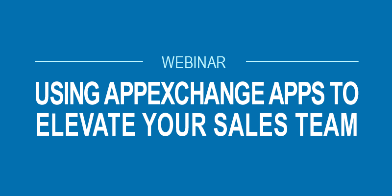 AppExchange Apps Sales Productivity