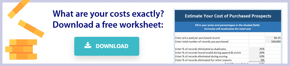 Cost of Fleet Owner Lead Generation Lists Worksheet