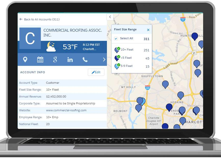 ProsperFleet Commercial Vehicle Fleet Data in Salesforce