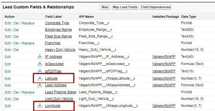 Latitude Longitude Fields in Salesforce