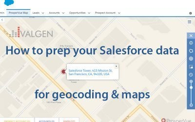 Cleanse Salesforce CRM Data for Geocoding and Google Esri Maps
