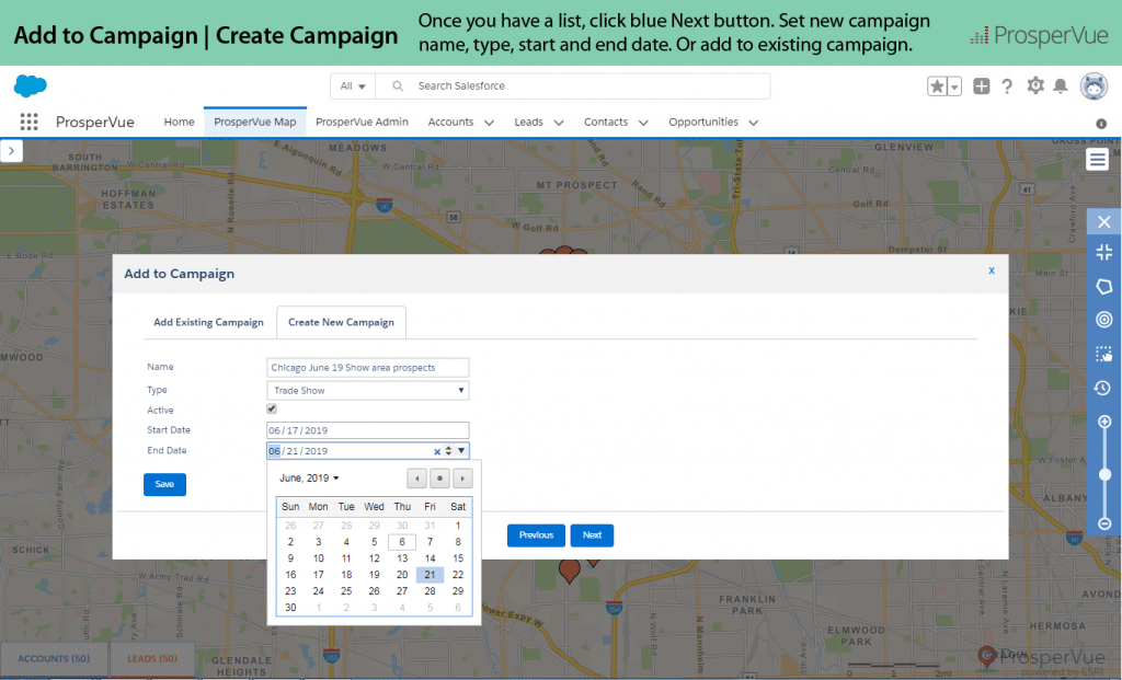 Add to Campaign with Salesforce ProsperVue 11